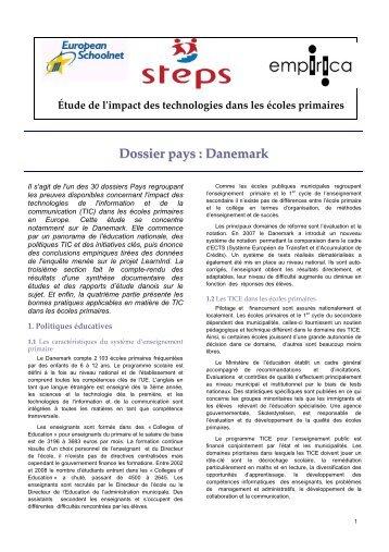 STEPS DANEMARK - Eduscol