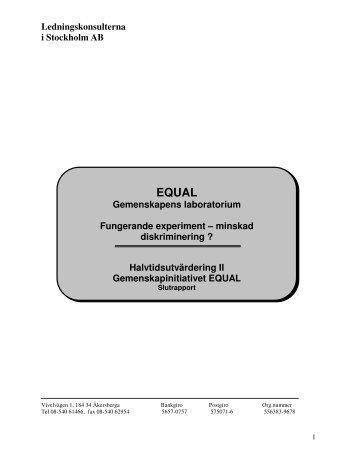 Ledningskonsulterna i Stockholm AB - Tema asyl & integration