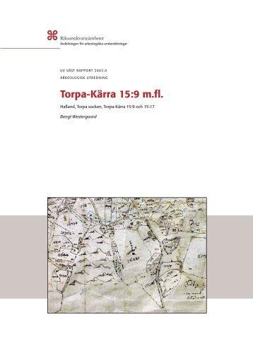 UV Väst Rapport 2003:4 - Riksantikvarieämbetet, avdelningen för ...