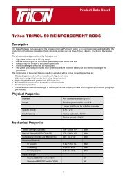 Trimol 50 Data Sheet Download - Triton Chemicals