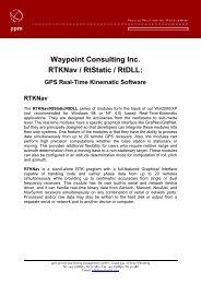 Waypoint Consulting Inc. RTKNav / RtStatic / RtDLL: - ppm GmbH