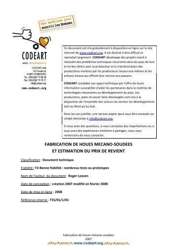 2007-Guide fabrication houe mécano-soudée