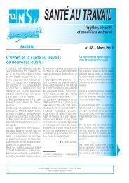 Santé au Travail n°68 - Mars 2011 - Unsa