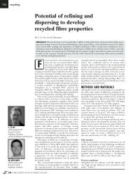 Potential of refining and dispersing to develop recycled fibre properties