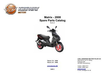 Matrix - 2008 Spare Parts Catalog - Carl Andersen Motorcykler A/S