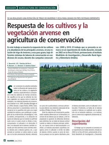 Respuesta de los cultivos y la vegetación arvense en agricultura de ...