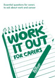 Work it out tool for carers - Macmillan Cancer Support