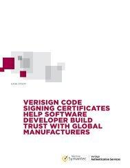 verisign code signing certificates help software developer build trust ...
