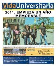 2011: EMPIEZA UN AÑO MEMORABLE - Universidad Rafael Landívar