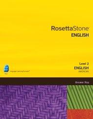 English (American) Level 2 - Answer Key