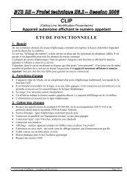 ETUDE FONCTIONNELLE - Ressources et projets électroniques