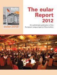 The eular Report 2012 - EULAR Congress News Preview Edition