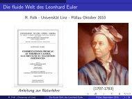 Die fluide Welt des Leonhard Euler