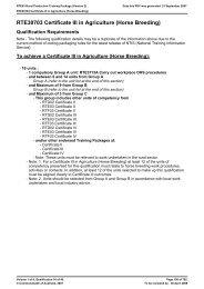 RTE30703 Certificate III in Agriculture (Horse Breeding)