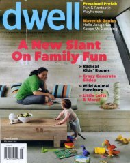 Dwell, August 2011 - Hella Jongerius