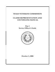 Claims Representation and Counseling Manual - Texas Veterans ...