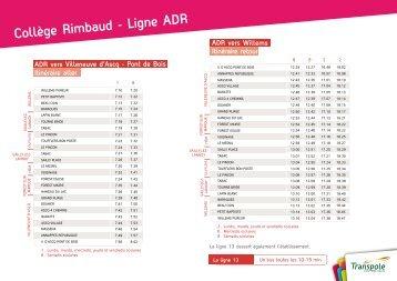 Collège Rimbaud - Ligne ADR - Transpole