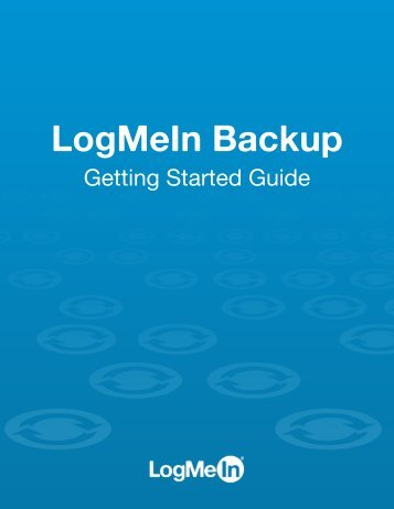 Getting Started with LogMeIn Backup