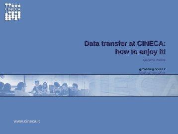 CINECA-dataTransfer