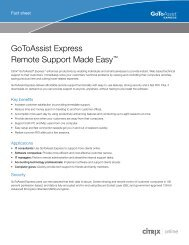 GoToAssist Express Remote Support Made Easy™ - Citrix Online