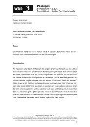 Der Überlebende (PDF-Download: 96,1 KB) - WDR 3