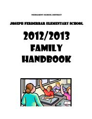 2012/13 Parent/Student Handbook - Neshaminy School District