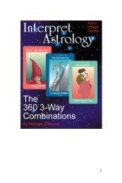 Interpret Astrology The 360 Three-Way Combinations - Matrix Software