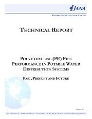 (PE) Pipe Performance in Potable Water Distribution Systems