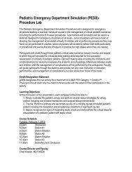 Pediatric Emergency Department Simulation (PEDS ... - AAEM