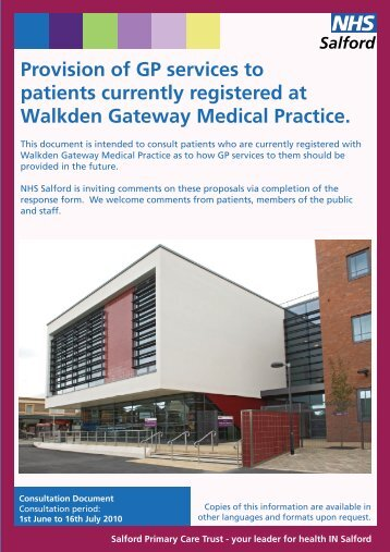 Consultation Document - NHS Salford