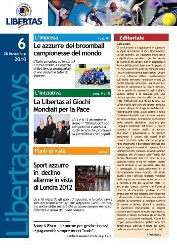 N. 6 Novembre 2010 - Libertas