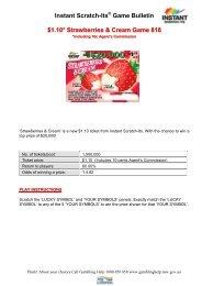 Instant Scratch-Its Game Bulletin $1.10* Strawberries & Cream ...