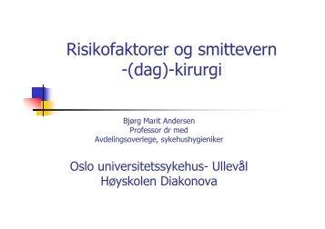 Risikofaktorer og smittevern -(dag)-kirurgi