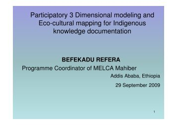 Participatory 3 Dimensional modeling and Eco-cultural mapping for ...