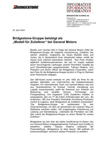 PDF | Pressemitteilung: GM-Award 2004