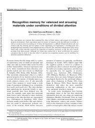 Recognition memory for valenced and arousing materials under ...