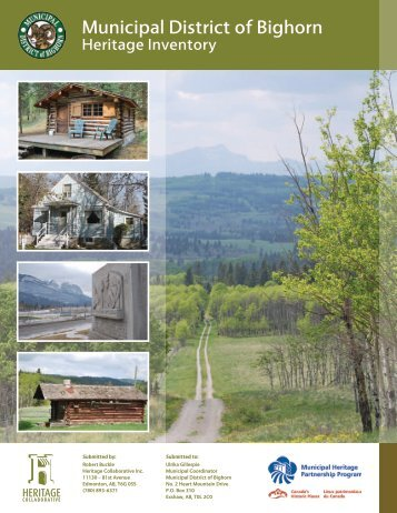 Heritage Inventory - Municipal District of Bighorn