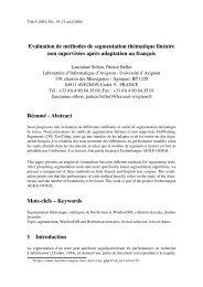 Evaluation de méthodes de segmentation thématique ... - AFCP