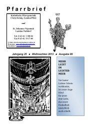 aktuellen Pfarrbrief - Katholische Pfarrei Christ König Landau