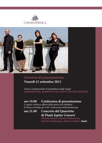 Concerto di presentazione - Chivasso in Musica