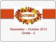 Newsletter – October 2013 Grade - 2 - JSS Private School