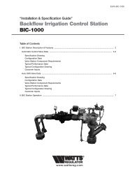 Backflow Irrigation Control Station BIC-1000 - Clean My Water