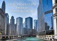 CIVIC FEDERATION AWARDS - The Civic Federation