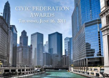 CIVIC FEDERATION AWARDS - The Civic Federation
