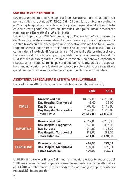 Bilancio Sociale 2010 ridotto - Azienda Ospedaliera Santi Antonio e ...