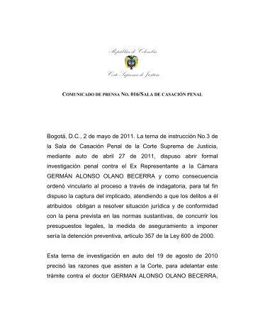 República de Colombia - Corte Suprema de Justicia