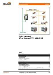 Belimo Gateway MP zu Modbus RTU - UK24MOD