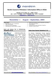 Newsletter August – September, 2004