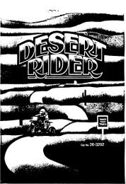 Desert Rider (Tandy).pdf - TRS-80 Color Computer Archive