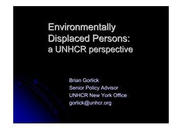 Environmentally Displaced Persons: a UNHCR ... - Equator Initiative